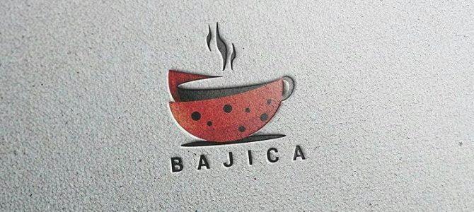 طراحی لوگو ی کافی شاپ باجیکا - ایران وبرطراحی لوگو ی کافی شاپ باجیکا