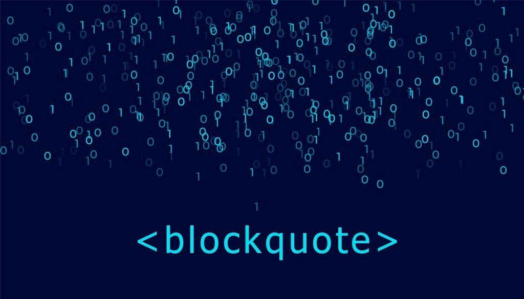 کد نوشتن نقل قول در html
