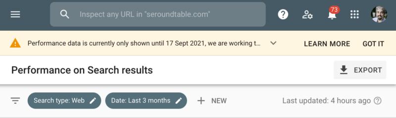 سرچ کنسول گوگل پس از چند روز به حالت عادی بازگشت
